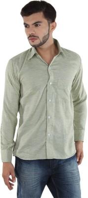 FDS Men,s Polka Print Casual Green Shirt
