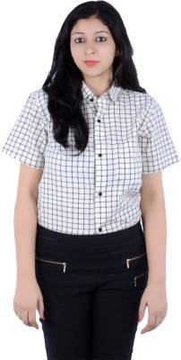 S9 Women's Checkered Casual Multicolor, Black Shirt