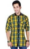 Hd Rascals Men's Checkered Casual Yellow...