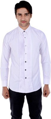 S9 Men's Solid Formal, Wedding, Party White Shirt