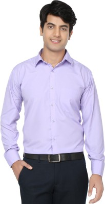 Spaky Men's Solid Formal Purple Shirt
