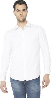 Globus Men's Solid Formal White Shirt