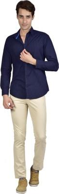 Zid Clothing Men's Printed Casual Blue Shirt