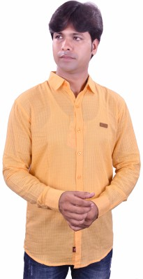 Henry Club Men's Solid Casual Yellow Shirt