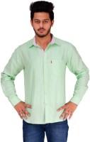 Spex Jet Formal Shirts (Men's) - Spex Jet Men's Solid Formal Linen Light Green Shirt