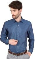 Big Tree Formal Shirts (Men's) - Big Tree Men's Solid Formal Blue Shirt