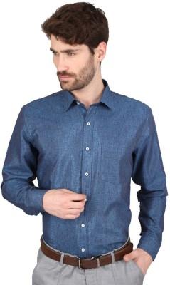 Big Tree Men,s Solid Formal Blue Shirt