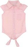 Eimoie Girls Polka Print Casual Pink Shi...