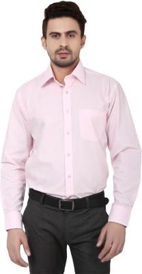Reborn Designer Men's Solid Formal Pink Shirt