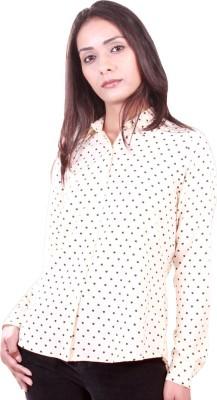 AR2 Women's Printed Formal, Casual Beige Shirt