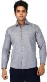 Trinath Men's Self Design Casual Grey Sh...
