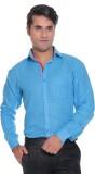 Rebel Men's Solid Casual Linen Light Blu...