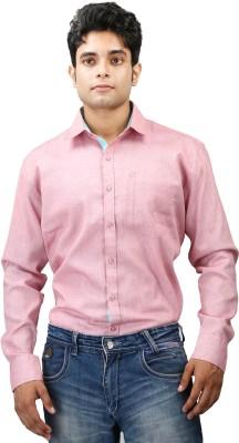 Relish Men's Solid Formal Pink, Light Blue Shirt