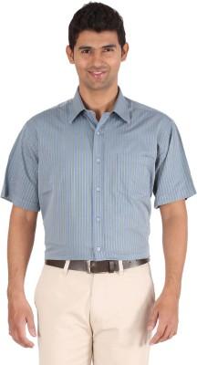 Furore Men's Striped Casual Blue Shirt