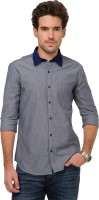 Mode Manor Formal Shirts (Men's) - Mode Manor Men's Solid Formal Dark Blue Shirt