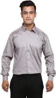 Mani Formal Shirts (Men's) - MANI Men's Solid Formal Grey Shirt