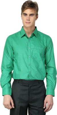 MNW Men's Solid Formal Green Shirt