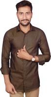 Gargi Fashions Formal Shirts (Men's) - Gargi Fashions Men's Solid Formal Brown, Brown Shirt