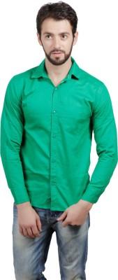 FDS Men's Solid Formal Green Shirt