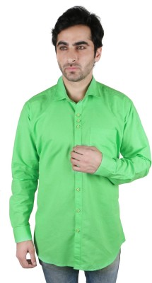 Being Friends Men's Solid Casual Green Shirt