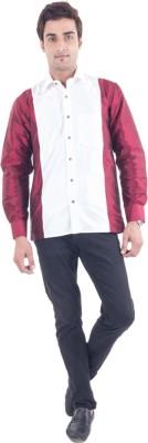 Scot Wilson Men's Self Design Casual Multicolor Shirt