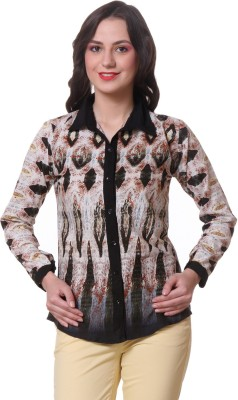 Purys Womens Animal Print Casual Multicolor Shirt