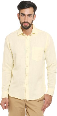 Classic Polo Men's Solid Formal Beige Shirt