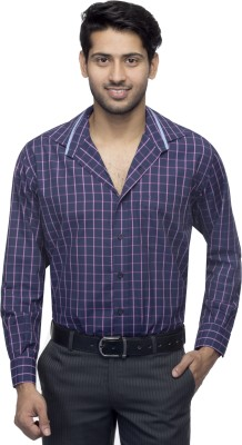 Menmark Men,s Checkered Formal Blue, Pink Shirt