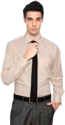 Van Heusen Men's Striped Casual Orange Shirt