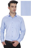 Enf Formal Shirts (Men's) - EnF Men's Striped Formal Light Blue Shirt