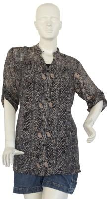 Jupi Women's Animal Print Casual Black, Brown, White Shirt