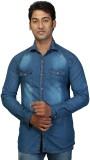 Trinath Men's Self Design Casual Denim B...