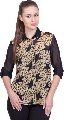 Stylestone Women's Animal Print Casual Brown Shirt