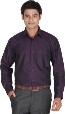 Lagnesh Men's Solid Formal Purple Shirt