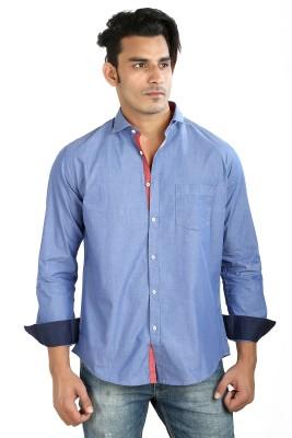 Faceman Men's Solid Casual Light Blue Shirt