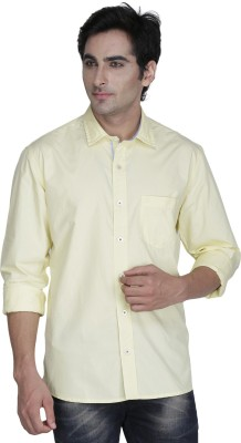 Kingswood Men's Solid Casual Yellow Shirt