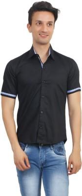 Stylox Men's Solid Casual Black Shirt