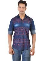 Creeds Formal Shirts (Men's) - CREEDS Men's Solid Formal Blue Shirt