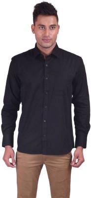 Jansons Men's Solid Formal Black Shirt