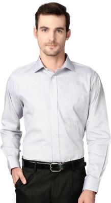 Van Heusen Men's Solid Formal Grey Shirt