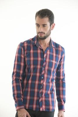 Kart & Kriss Men's Checkered Casual Red, Blue Shirt