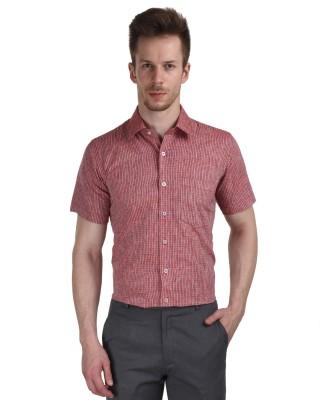 Black Catz Men's Checkered Casual Red Shirt