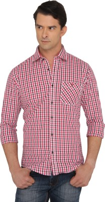 Donear NXG Men's Checkered Casual Maroon Shirt