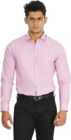 C N B Formal Shirts (Men's) - C n B Men's Solid Formal Pink Shirt