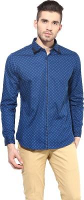 MONTEIL & MUNERO Men's Printed Casual Blue Shirt