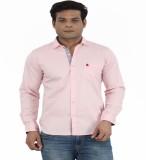 Moustache Men's Solid Casual Pink Shirt