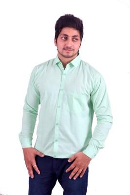 Hartmann Men's Solid Casual Green Shirt
