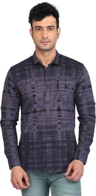 Glabrous Men,s Checkered Casual Grey Shirt