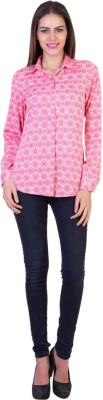 Crosstitch Women's Printed Party Pink, White Shirt