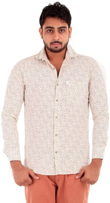 The G Street Men's Printed Casual Yellow Shirt